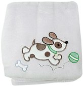 My Baby Zebra Design Plush Blanket, White