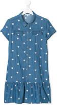 Little Marc Jacobs heart embroidered denim dress