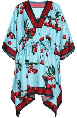 Dolce & Gabbana Exclusive to Mytheresa cherry printed silk kaftan