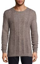 John Varvatos Long Sleeve Crewneck Merino & Alpaca Wool Blend Sweater