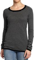 Old Navy Women's Patterned Crew-Neck Sweaters