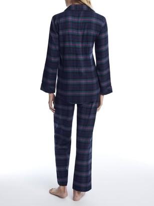 Lauren Ralph Lauren Green Plaid Brushed Twill Pajama Set