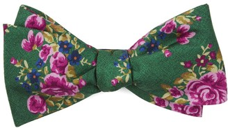 The Tie Bar Hinterland Floral Kelly Green Bow Tie