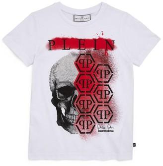 Philipp Plein Junior Diamante Skull T-Shirt (4-16 Years)