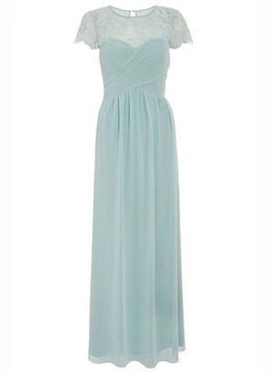 Dorothy Perkins Womens Quiz Sage Lace Sweetheart Maxi Dress