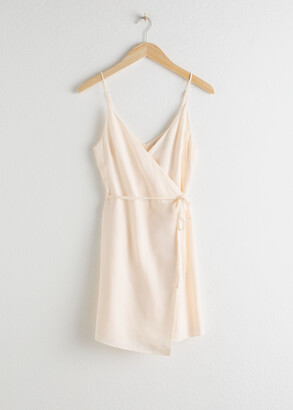 And other stories Asymmetric Wrap Mini Dress