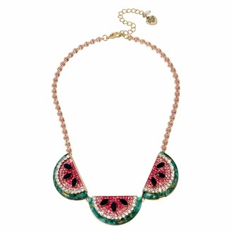 Betsey Johnson GBG) Watermelon Frontal Necklace