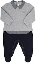 Il Gufo Top & Bottom Footie-GREY