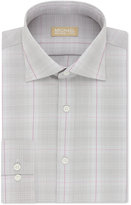 Michael Kors Men's Slim-Fit Non-Iron Pink Check Dress Shirt