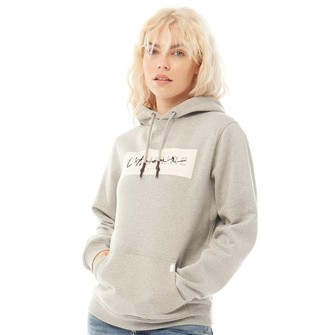 883 Police Womens Ava Sweat Hoodie Light Grey Marl