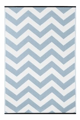 Wildon Home Light Blue/White Indoor/Outdoor Area Rug