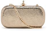 Vivienne Westwood Women's Verona Metallic Leather Clutch Bag Gold