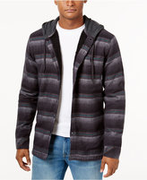 Billabong Men's Baja Stripe Hooded Shirt with Faux-Sherpa Lining