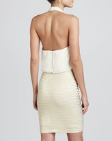 Aidan Mattox Halter Cocktail Dress