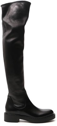 Prada Over The Knee Zipped Boots