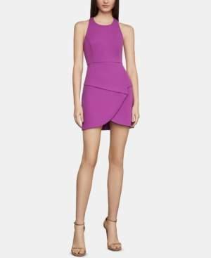 BCBGMAXAZRIA Caged-Back Halter Mini Dress