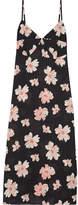 Joseph Inga Floral-print Woven Dress - Black