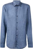 Z Zegna classic shirt - men - Linen/Flax - S