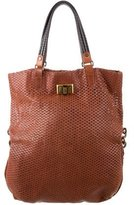 Lanvin Perforated Fold-Over Tote