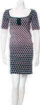 Zac Posen Polka Dot Knit Dress