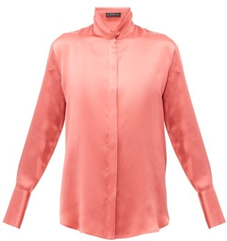 Etro Hampshire Silk-satin Shirt - Womens - Pink