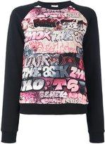 Giamba print detail sweatshirt