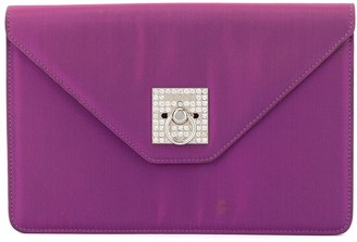 Céline Pre Owned Logos Rhinestone Clutch Hand Bag