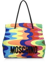 Moschino Rainbow-Print Nylon Tote