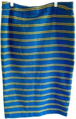 Stella Jean Blue Cotton Skirt for Women