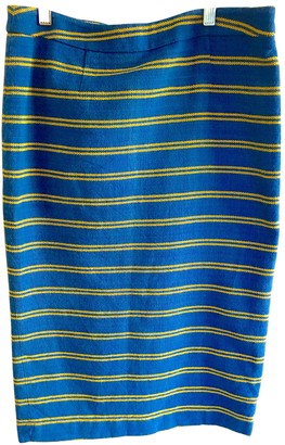 Stella Jean Blue Cotton Skirts