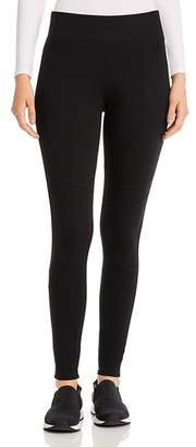 Andrew Marc Seamed-Front Ponte Leggings