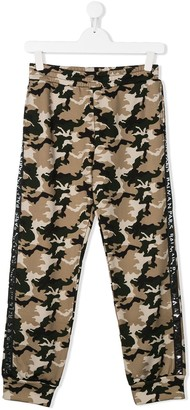 Balmain Kids TEEN camouflage-print track pants