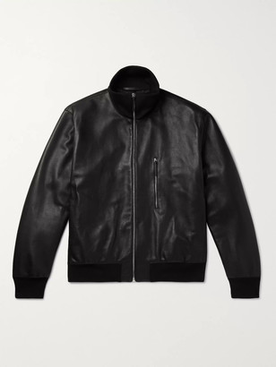 The Row Liam Leather Bomber Jacket - Men - Black