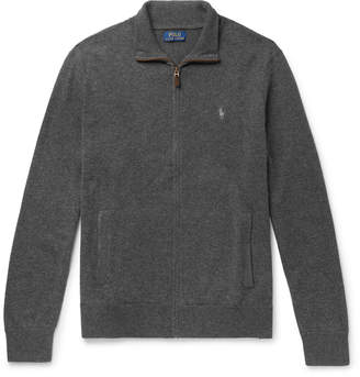 Polo Ralph Lauren Melange Merino Wool Zip-Up Cardigan
