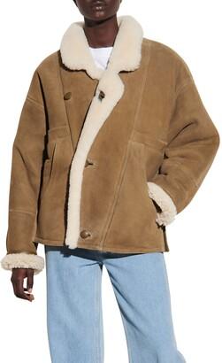 Sandro Genuine Shearling Coat
