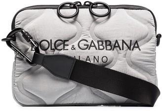 Dolce & Gabbana Logo-Print Quilted Crossbody Bag
