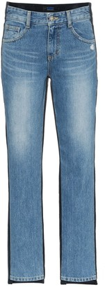Sjyp Mid Rise Corduroy Straight Jeans