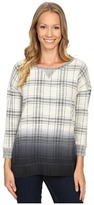 Lucky Brand Plaid Dip-Dye Pullover