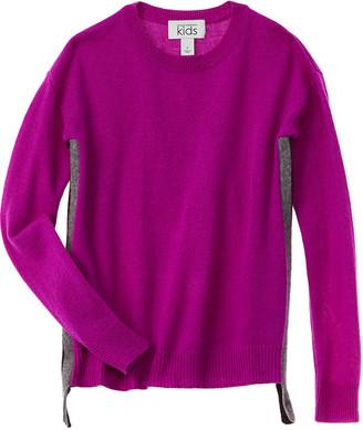 Autumn Cashmere Kids Side Seam Stripe Wool & Cashmere-Blend Sweater