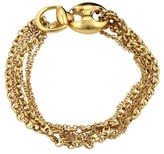 Gucci 18K Gold Multi-Strand Marina & Rolo Link Horsebit Closure Bracelet