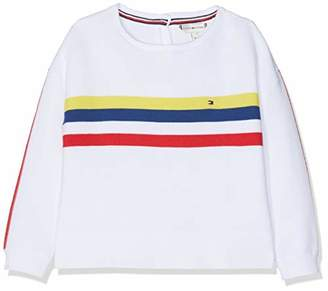 Tommy Hilfiger Baby Girls' Retro Placed Stripe Sweater Jumper