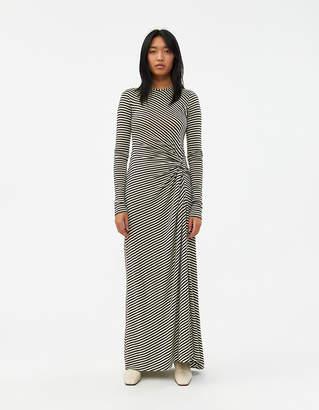 Priscavera Long Sleeve Stripe Knot Dress