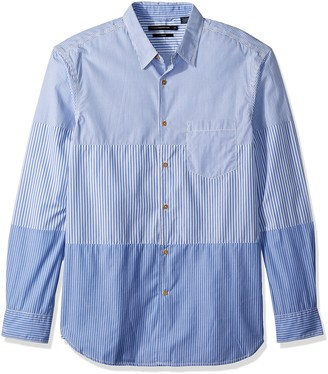 French Connection Men's Horizontal Cut Stripe Buttondown Shirt