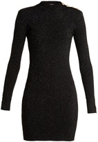 Balmain Button-detail body-con dress