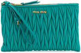 Miu Miu pleated clutch bag