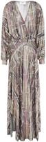 Thumbnail for your product : BA&SH Santana Metallic Printed Knitted Maxi Dress