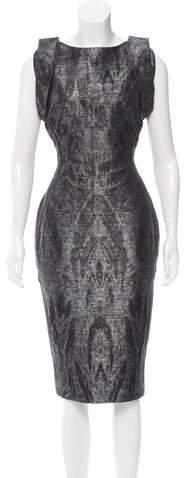 Antonio Berardi Jacquard Abstract Dress