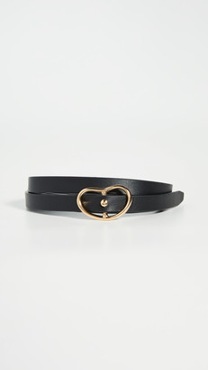 Lizzie Fortunato Skinny Georgia Belt in Black