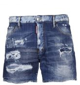 DSQUARED2 Distressed Wide Leg Shorts