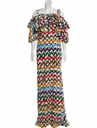 Edeline Lee Cold-Shoulder Maxi Dress w/ Tags White